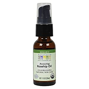 Aura Cacia Organic Skin Care, Restoring Rosehip Oil with Vitamin E, 1 Fluid Ounce