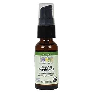 Aura Cacia Organic Natural Skin Care, Restoring Rosehip Oil with Vitamin E, 1 Fluid Ounce