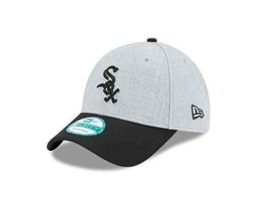 MLB Chicago White Sox The League Heather 9Forty Adjustable Cap, One Size, Heather - Chicago White Sox Heather