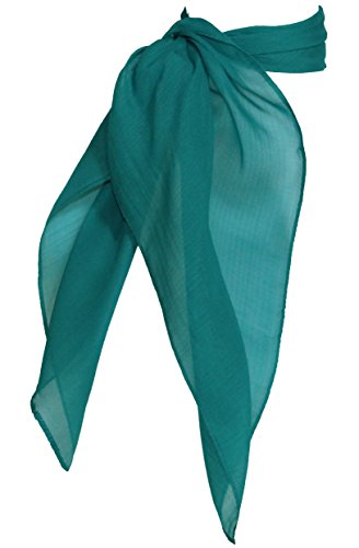 Sheer Chiffon Scarf Vintage Style Accessory for Women and Children, Teal