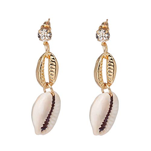 (Z&HA Shell Earrings Natural Pearl Haiyang Pendant Beach Earrings Banquet Birthday Accessories)