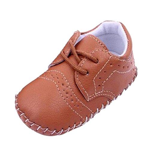 1par Zapatos de Bebé Niño Infantil Cuna Zapatos Caminante PU Cuero - Blanca , 12 13