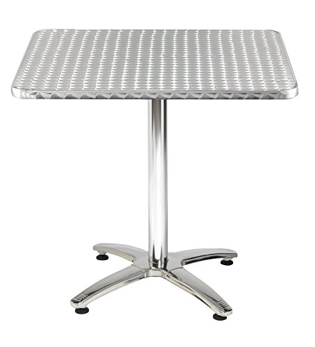 KFI Seating Outdoor/Indoor Square Pedestal Table X Base,