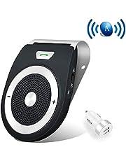 Aigital Bluetooth Manos Libres Coche Kit Auto Power ON con Sensor de Movimiento Integrado