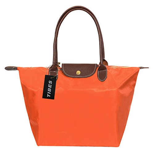 Tibes Bolso de compras simple del bolso de la manera para las mujeres naranja