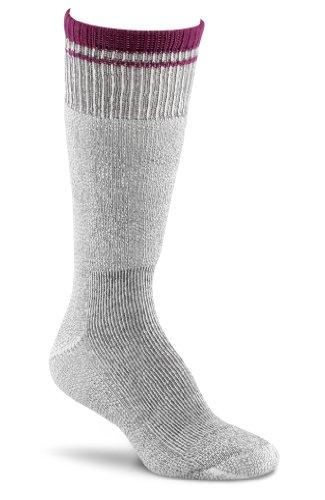 Fox River Women's Her Field Boot Socks, Charcoal Mix/Berry, Medium (River Wool Socks Fox)