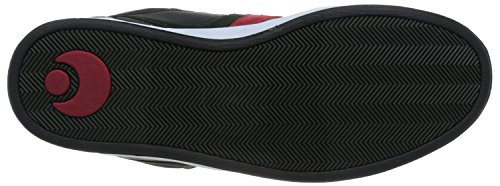 Zapatos Osiris Cthi Negro-rojo-verde