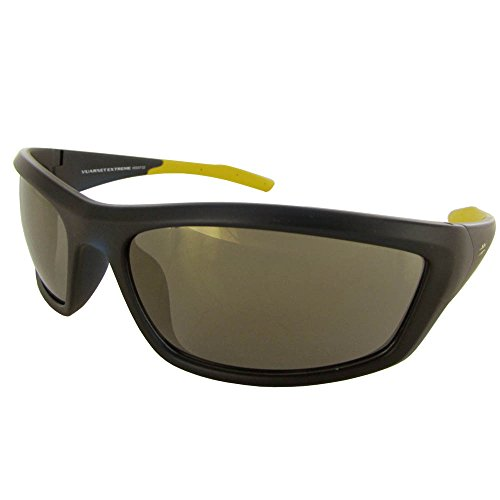 Vuarnet Extreme VE5007 Athletic Sport Wrap Sunglasses Yellow Yellow Brown ()
