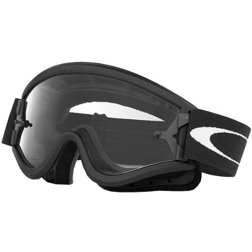 Oakley MX L Frame Adult Dirt Off-Road/Dirt Bike Motorcycle Goggles Eyewear - Black/Clear/One Size Fits ()