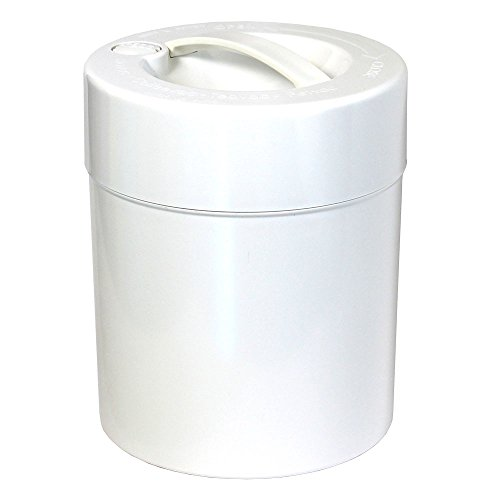 Kilovac - 8 oz to 2.5 lbs Airtight Multi-Use Vacuum Seal Portable Storage Container for Dry Goods, Food, and Herbs - White Cap/White Body