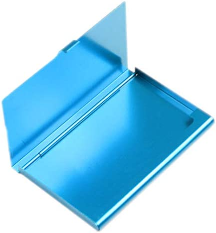 FXCO Praktische Tasche Business Name Kredit ID Card Case Metall Box Holder Aluminium (Blau)