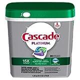 Cascade Platinum ActionPacs Dishwasher Detergent, Fresh Scent, 80 Count (5 Pack(80 Count))