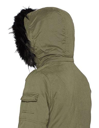 para Naf Kaki Verde Vert Naf Abrigo Bujolie Mujer panT7Tqtw