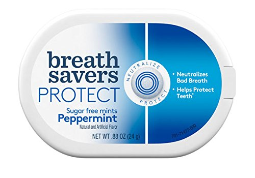 Kosher Mini Mints (Breath Savers Protect Sugar Free Mints Peppermint 6 Count)