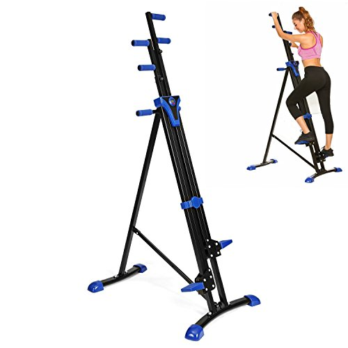 hotstype 350lb Folding Vertical Climber, Step Climbing Machine Stepper Exercise Fitness Stair Cardio Equipment (US Stock)