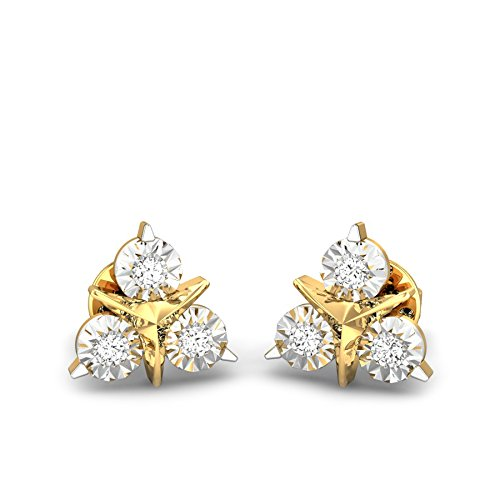 50a5901f2 Buy Candere By Kalyan Jewellers 18k (750) Yellow Gold and Diamond Stud  Earrings for Women Online at Low Prices in India | Amazon Jewellery Store -  Amazon.in