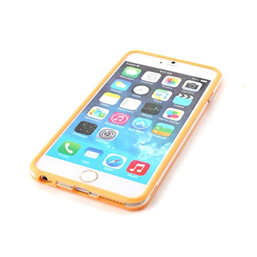 Smart Stylish Iphone 6 Silicon Bumper Transparent Orange by G4GADGET®