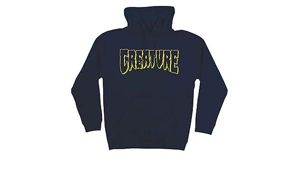 Creature Skateboard Pullover Hoody Sweatshirt Logo Outline Navy