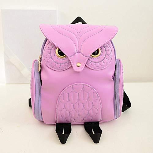 Viaggio Per Scuola Pu Personalità Da Borsa Daypack Fashion Resistente College Gufo Zaino Studentessa Forma Rosa Casual Donna dq6t7wx7