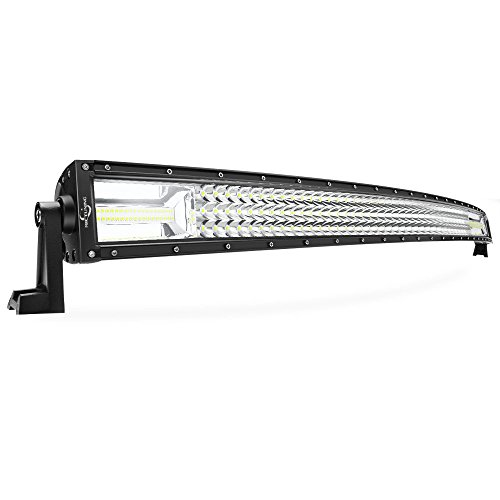 MICTUNING Tri-Row 52Inch PowerEnhancer Curved LED Light Bar