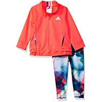adidas Baby Girls' Zip Jacket and Pant Set