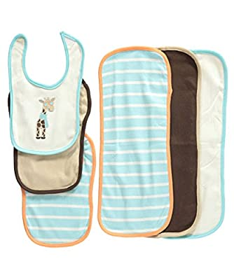 Hudson Baby 6 Piece Bib and Burp Cloth Set by Hudson Baby that we recomend personally.