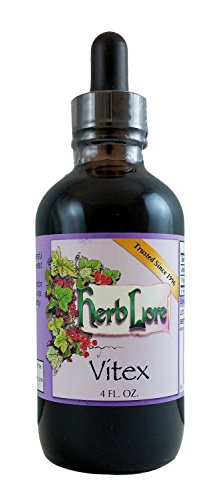 Liquid Vitex Chasteberry - Fertility Support for Women, Natural PMS & Menopause Symptom Relief - 4 Ounces - Herb Lore