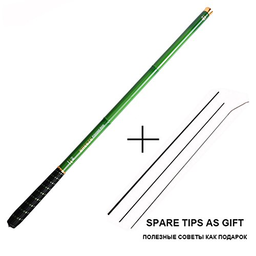 Super-fantastic-store Stream Fishing Rods 3.0m-7.2m Carbon Fiber Telescopic Fishing Rod Hand Pole Feeder for Carp Fishing Tenkara,olta,1pc/lot,Green,3.6 m (Best Fishing Pole In Terraria)