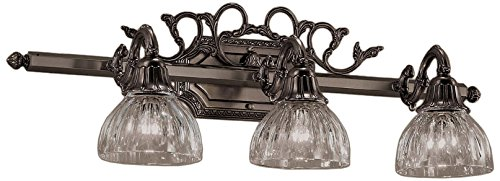 Bronze Classic Crystal (Classic Lighting 57367 AGB Majestic, Cast Brass and Lead Crystal, Vanity Lighting, Aged Bronze)