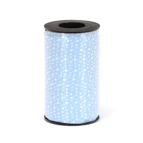 (Berwick 3800803 Reverse Dots Curling Ribbon, 3/8-Inch Wide by 250-Yard Spool, Blue)