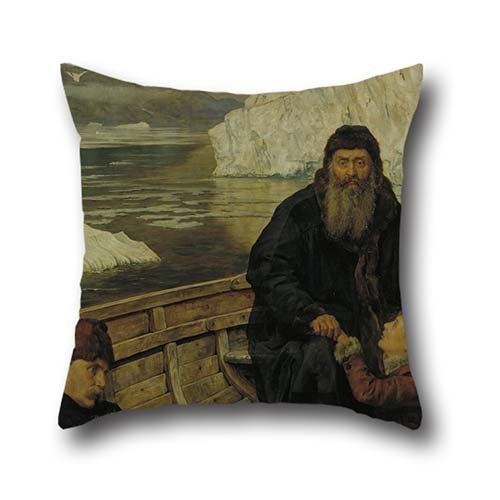 Cushion Covers 20 X 20 Inch / 50 By 50 Cm(both Sides) Nice Choice For Wife,kids,shop,kids Girls,car Seat,dance Room Oil Painting John Collier - The Last Voyage Of Henry ()