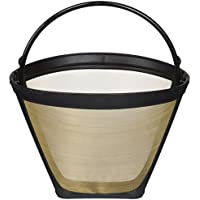 Crucial Coffee Washable & Reusable Coffee Filter # 4 Cone Fits Black & Decker, Braun