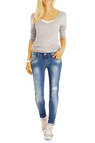 Skinny para Azul Mujer Bestyledberlin Usado Vaqueros xR1wqqO