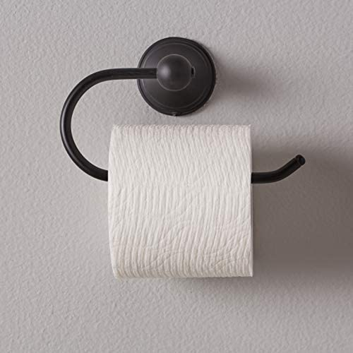 Amazon Basics AB-BR808-FB Euro Toilet Paper Holder-Modern, 1-Piece, 5.04 Inch, Flat Black