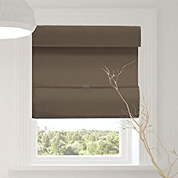 """Chicology Cordless Magnetic Roman Shades/Window Blind Fabric Curtain Drape, Thermal, Light Filtering - Mountain Almond, 23"""" W X 64"""" H"""