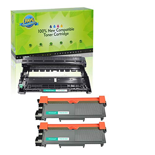 NineLeaf Toner Cartridge and Drum Unit Replacement Combo Compatible for Brother TN660 TN630 DR630 HL-L2315DW HL-L2380D MFC-L2685DW MFC-L2740DW Printer (1 Drum + 2 Toner) -  NineLeaf Tech, QNL-AMA004-TN660-2PK+DR630-1PK