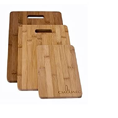 Culina Bamboo Cutting Board, Set of 3