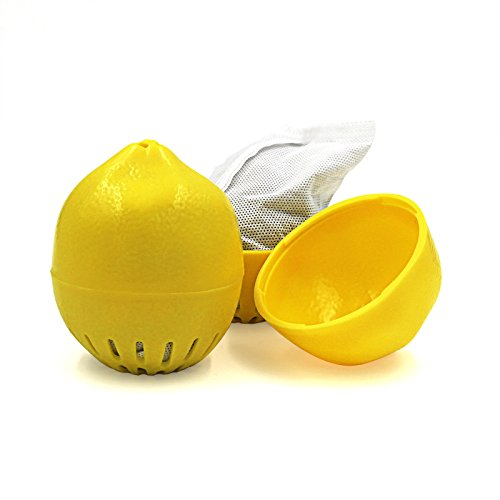 SHD 2 Packs Fridge Air Freshener Lemon Shape Activated Charcoal Odor Eliminator for Rome (Spring Air Natures Rest)