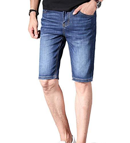 Pantalones De De Estilo Cortos De Los Pantalones Vaqueros Moda Bermuda Pantalones De Alsbild Mezclilla Fit Slim El De Verano De Hombres Mezclilla Mezclilla Regular Cortos Pantalones txvv6wTO