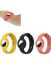 3 stuks voor Apple Airtag siliconen band armband, lichtgewicht zachte polsbandje, GPS kinderen anti-verloren horlogebandje locator tracker (A4)