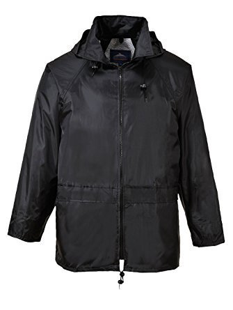 Portwest US440 3XL Black Classic Rain Jacket Womens Jacket Coat