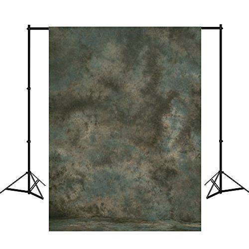 Mehofoto 10X12ft Hand Painted Muslin Photography Backdrops Collapsible Grey Photo Background for Studio Props