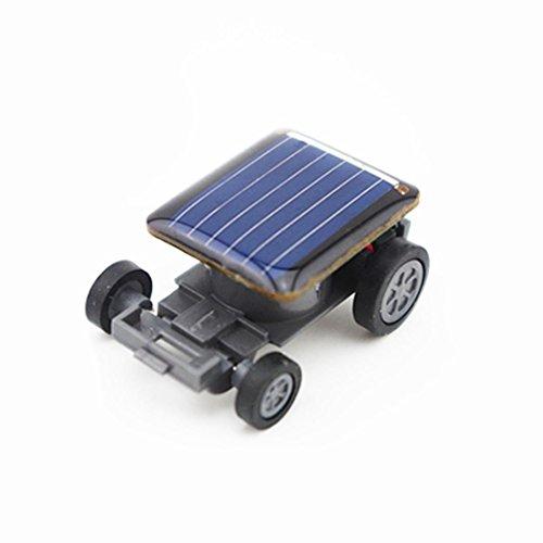 Mini Solar Robot (Solar Power Energy Mini Car,Smallest Solar Powered Toy Racer Kit Children Gift Educational Robot Toy Solar Powered Fantasy & Sci-Fi Kit Creative Gadget Gift for Kids Age 6+ (Black))