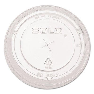 Price comparison product image SOLO Cup Company Ultra Clear Flat Cold Cup Lids,  Pet,  2 Packs of 100 Lids (200 Total)