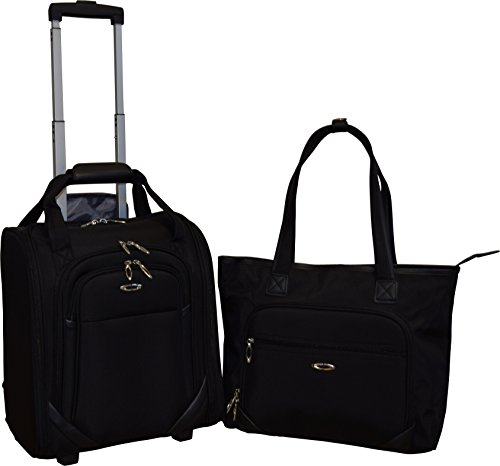 Kemyer Computer Underseater and Tote (2 Piece), Black