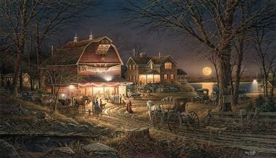 Peck and Gartner Terry Redlin Harvest Moon Ball