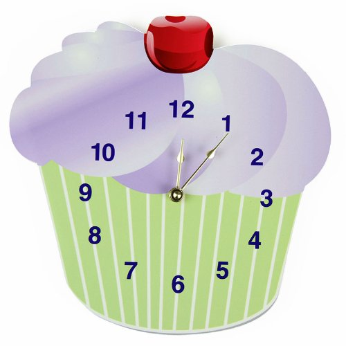 Rikki Knight Cupcake Wall Clock - cute baby nursery wall clock
