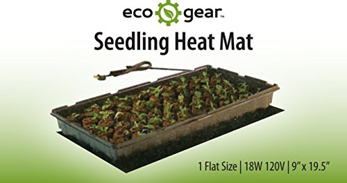 EcoGear Seedling Heat Mat 2 Tray 9'' x 20'' by Heat Mat