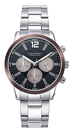 Viceroy Reloj Multiesfera para Hombre de Cuarzo con Correa en Acero Inoxidable 471051-55: Amazon.es: Relojes