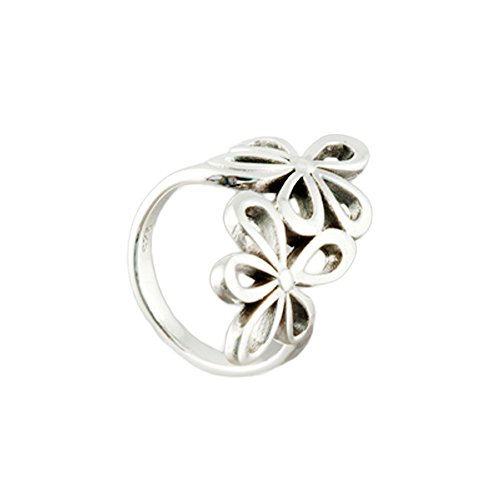 Sterling Silver Daisy Flower Bypass Thumb Ring Size 7 (Bypass Flower)